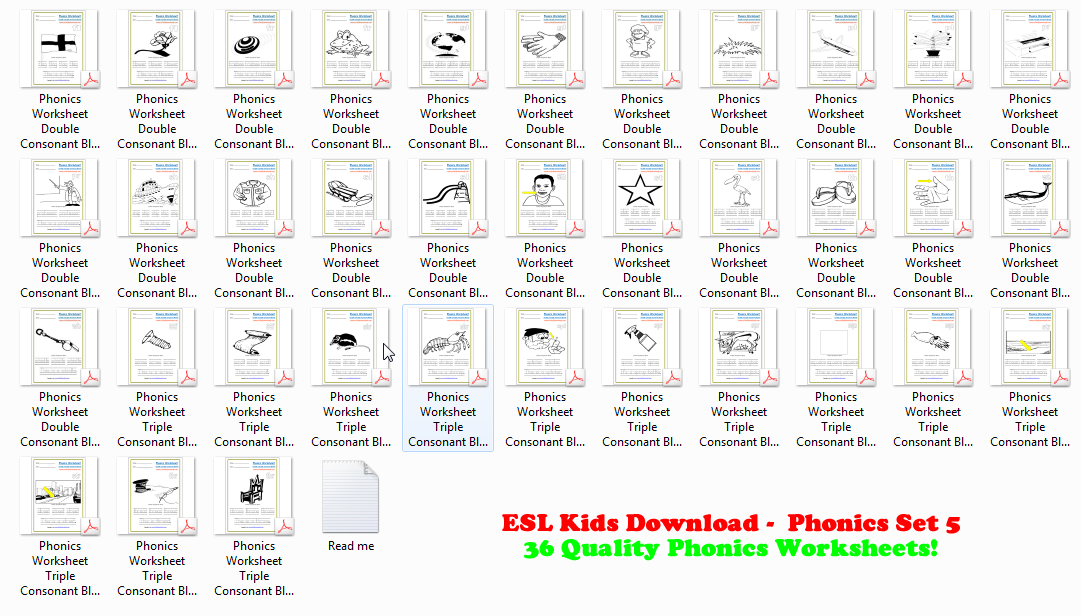 Printables Esl Phonics Worksheets esl downloads kids puzzles pdf flashcards board phonics workbook 5 double triple blends